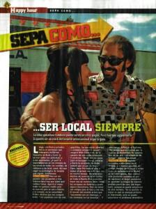 Ser Local Siempre, Nota de la Revista Hombre de Febrero 2009